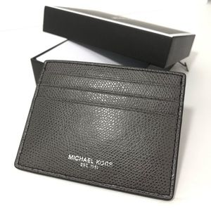 Michael Kors Mens Leather Tall Card Case Wallet